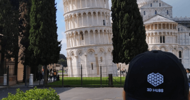 Vacation photo of the leaning tower of Pisa