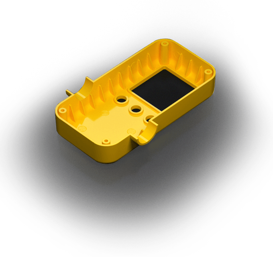 Yellow injection molded part