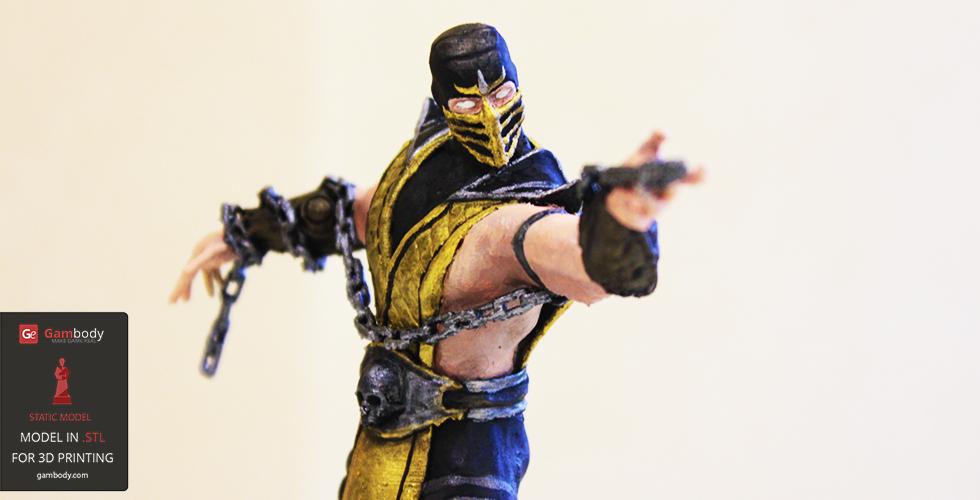 Painted 3D Printed Scorpion from Mortal Kombat - 3D Printing