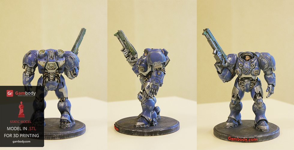 Painted Terran Space Marine Model from StarCraft - Talk