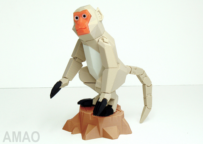 Formosan formose taiwan macaque singe chinese nouvel an chinois articulé imprimé en 3D cults STL gratuit 1.jpg