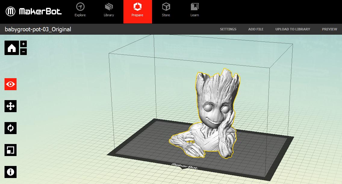 Qidi Tech Dual Baby Groot Flower Pot Issue 3d Printers Talk