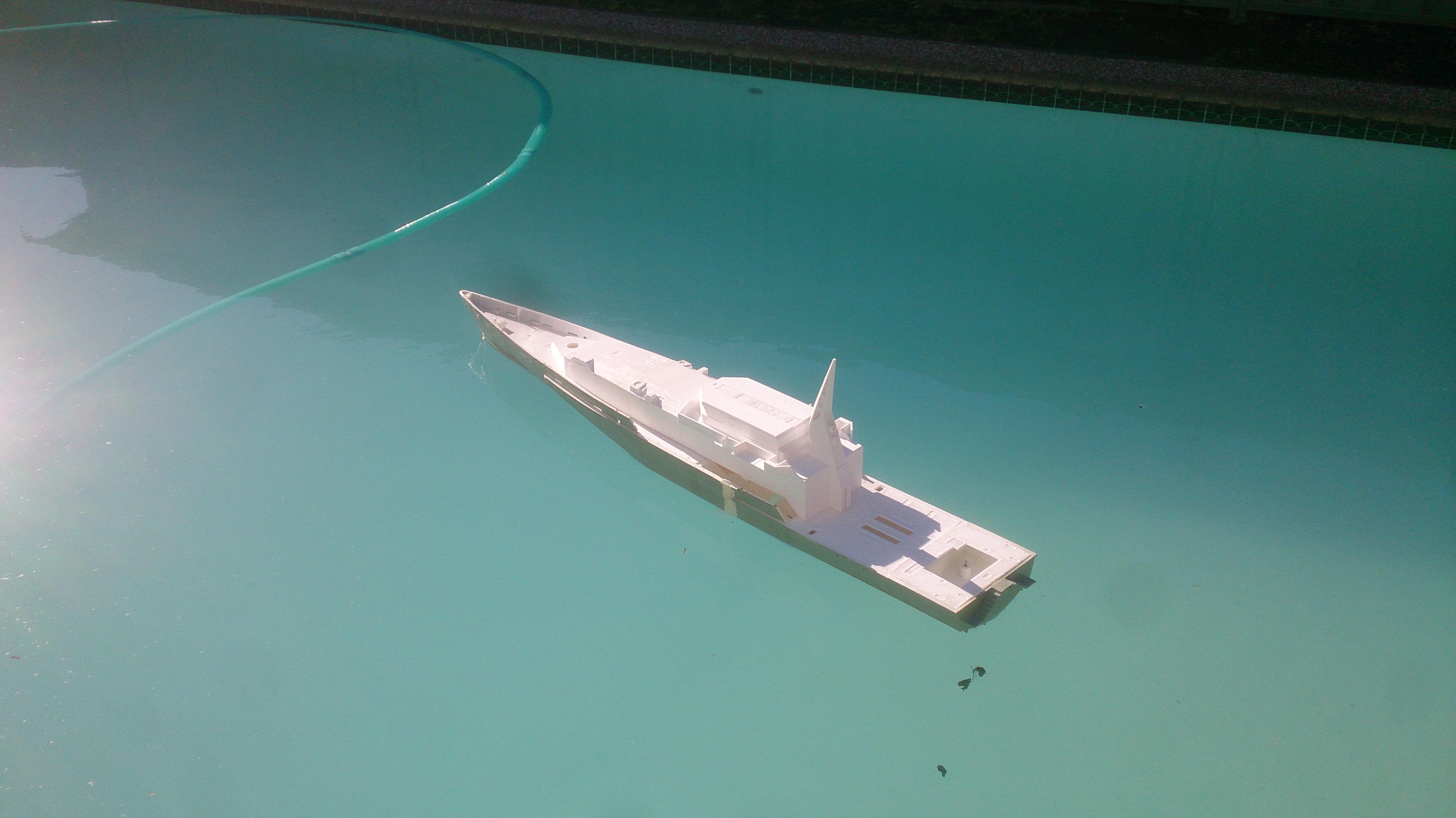 Giant 1 7 metre 3d printed RC ship - 3D Printing / 3D