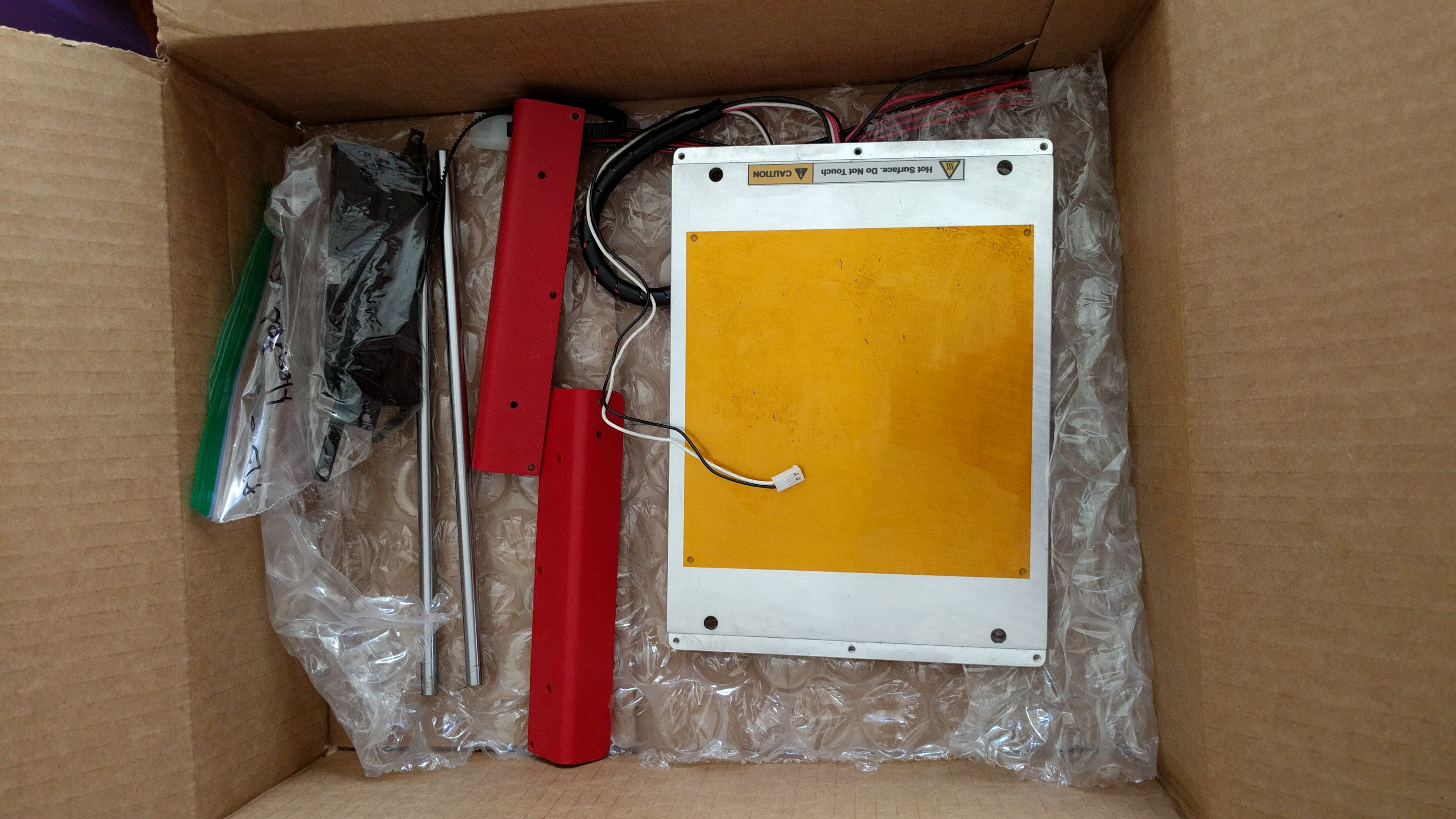 selling heated bed with red wings for printrbot simple metal 3d