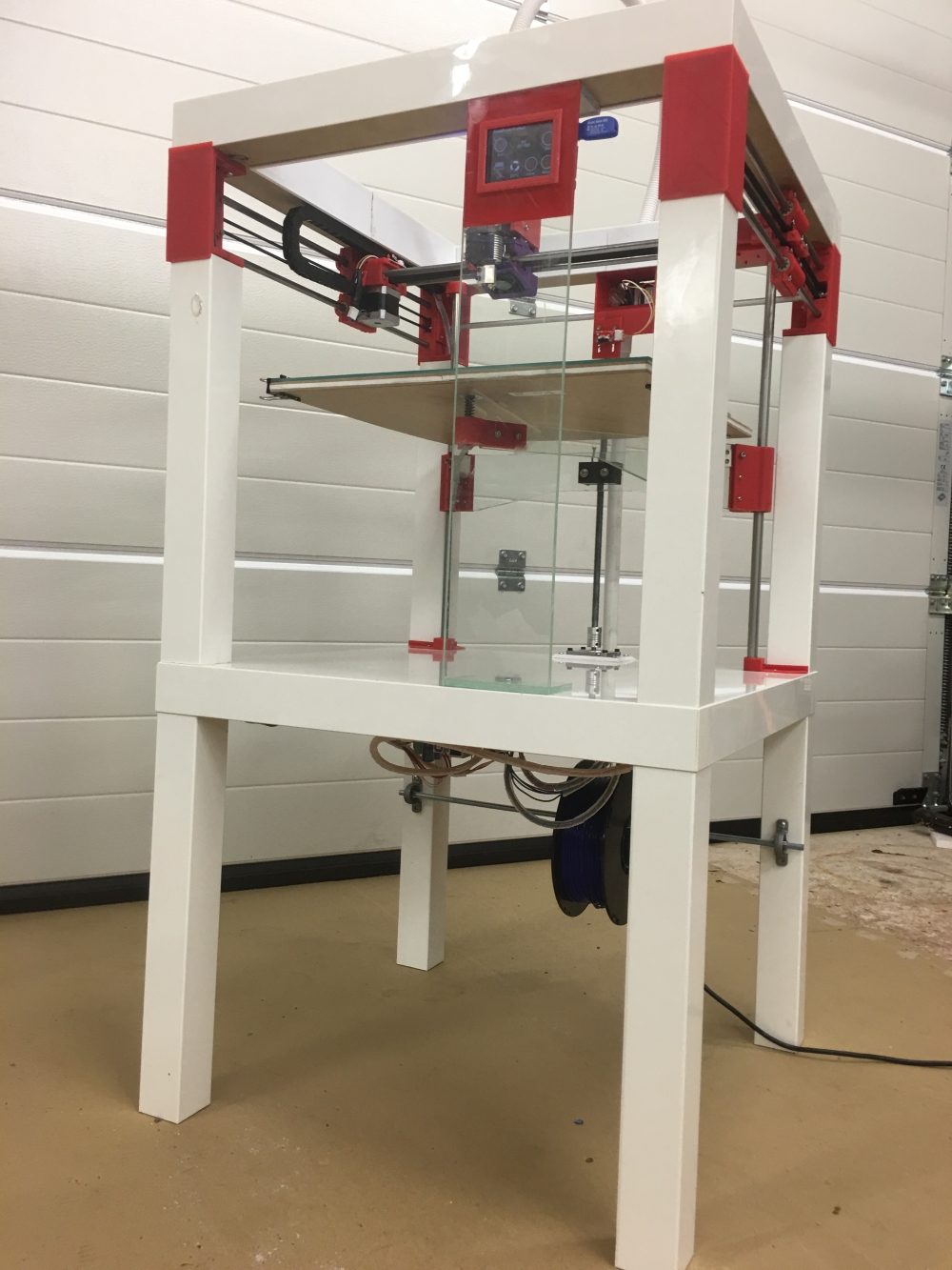 Just Finished A Large Build Printer Using Ikea Lack Tables 3d