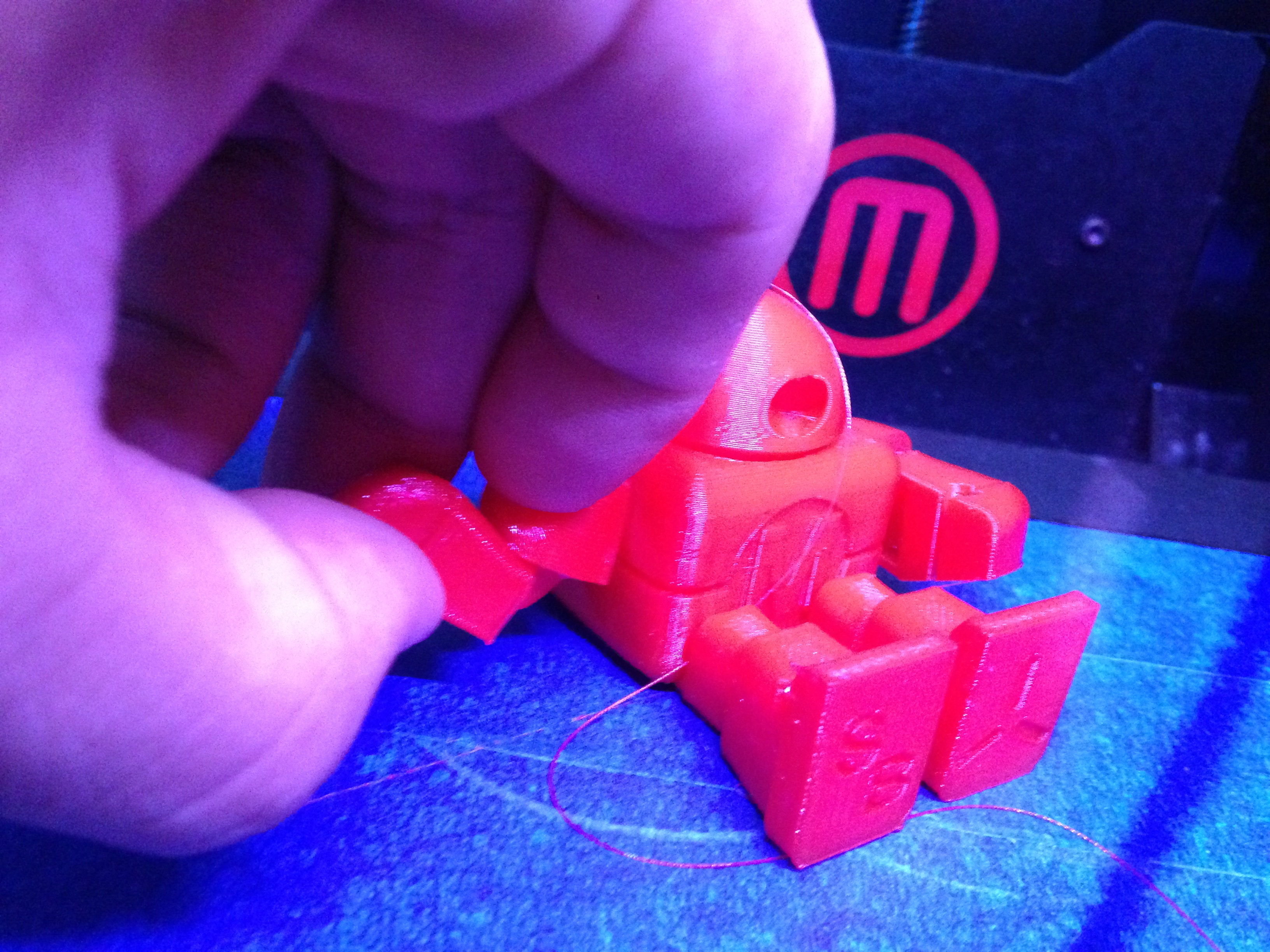 Master of ninja flex on Makerbot Replicator 2 and 2x - 3D