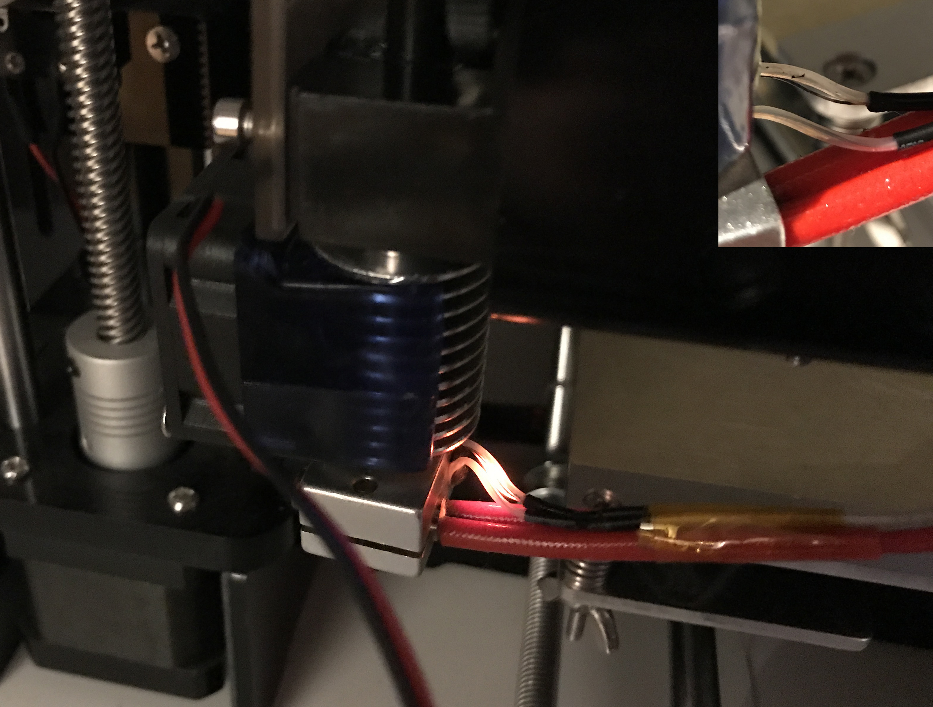 Remarkable Thermistor Wire Red Hot Glowing 3D Printers Talk Manufacturing Wiring Digital Resources Funapmognl