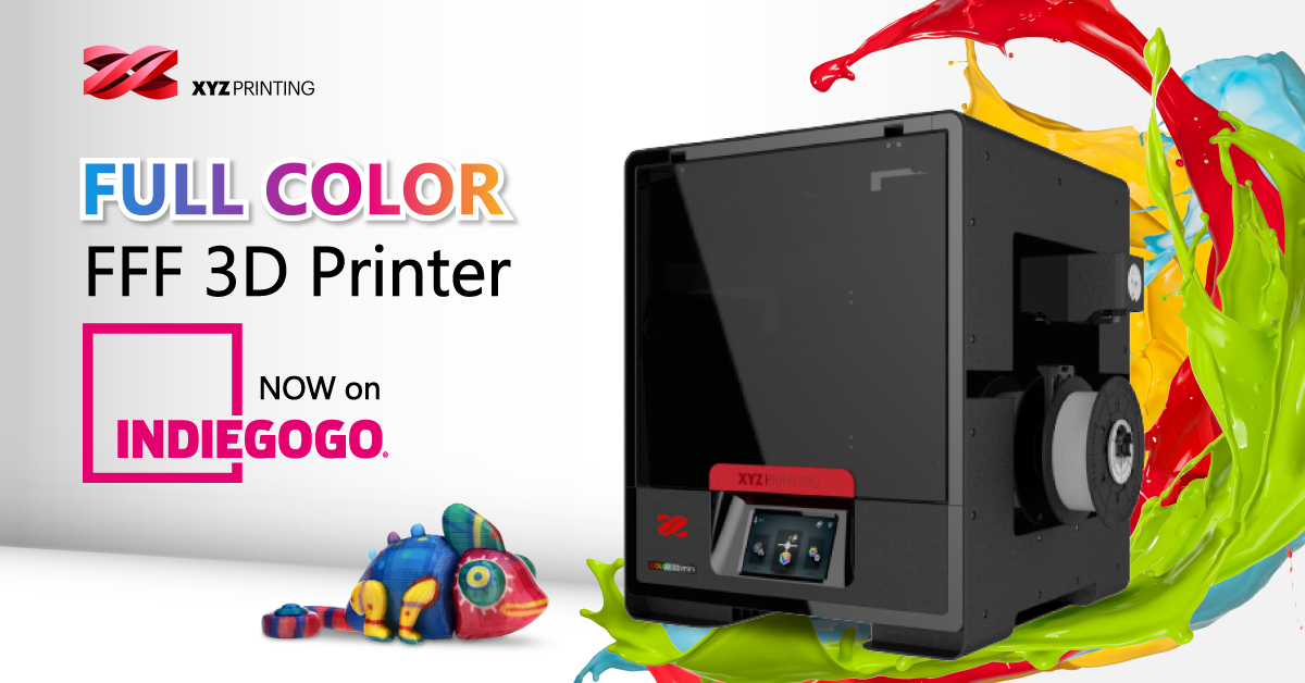 XYZprinting's Full-Color FFF 3D Printer on Indiegogo - For Sale