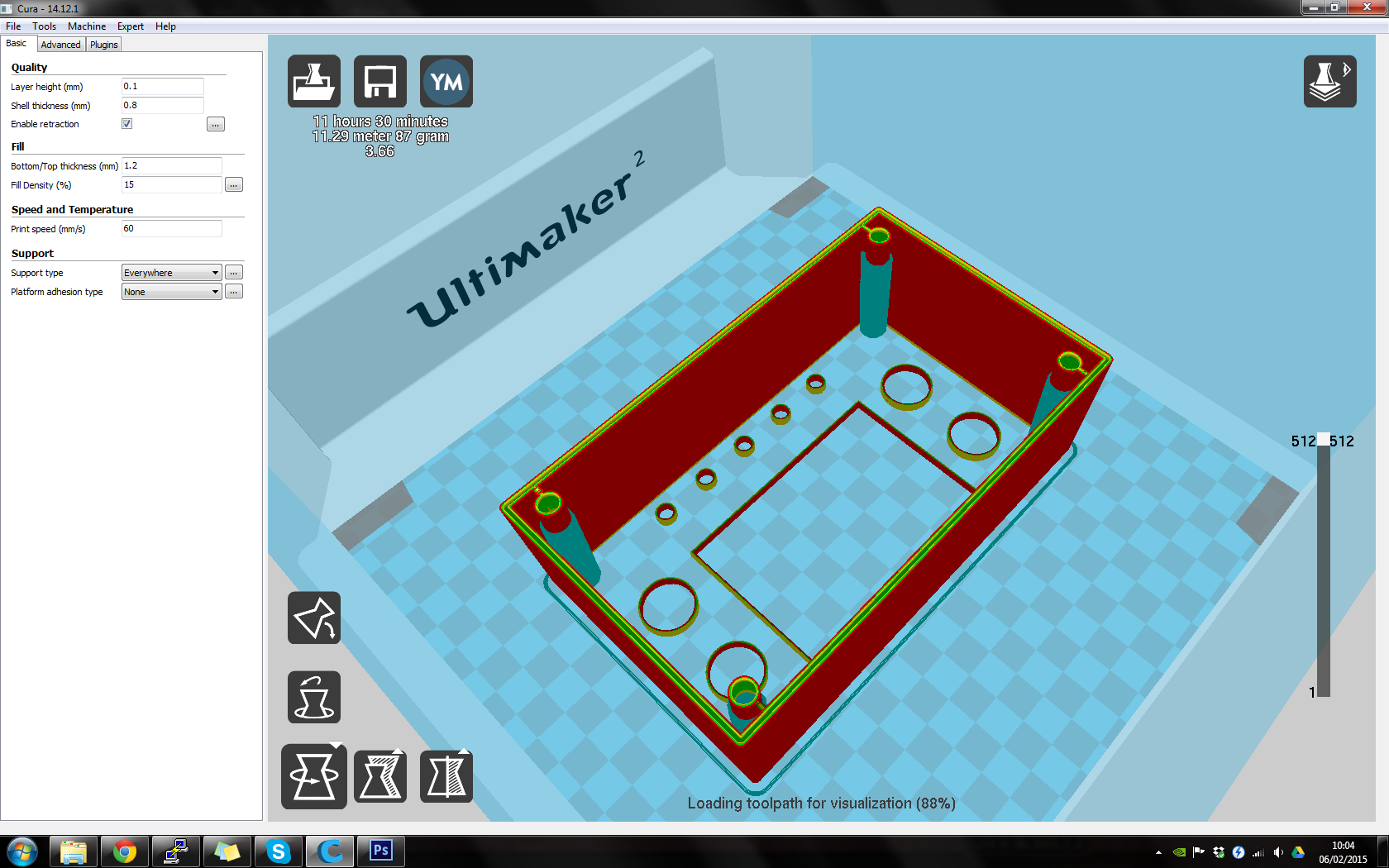 Carte But Retractation.Best Printing Practices On An Ultimaker How To Hub Talk