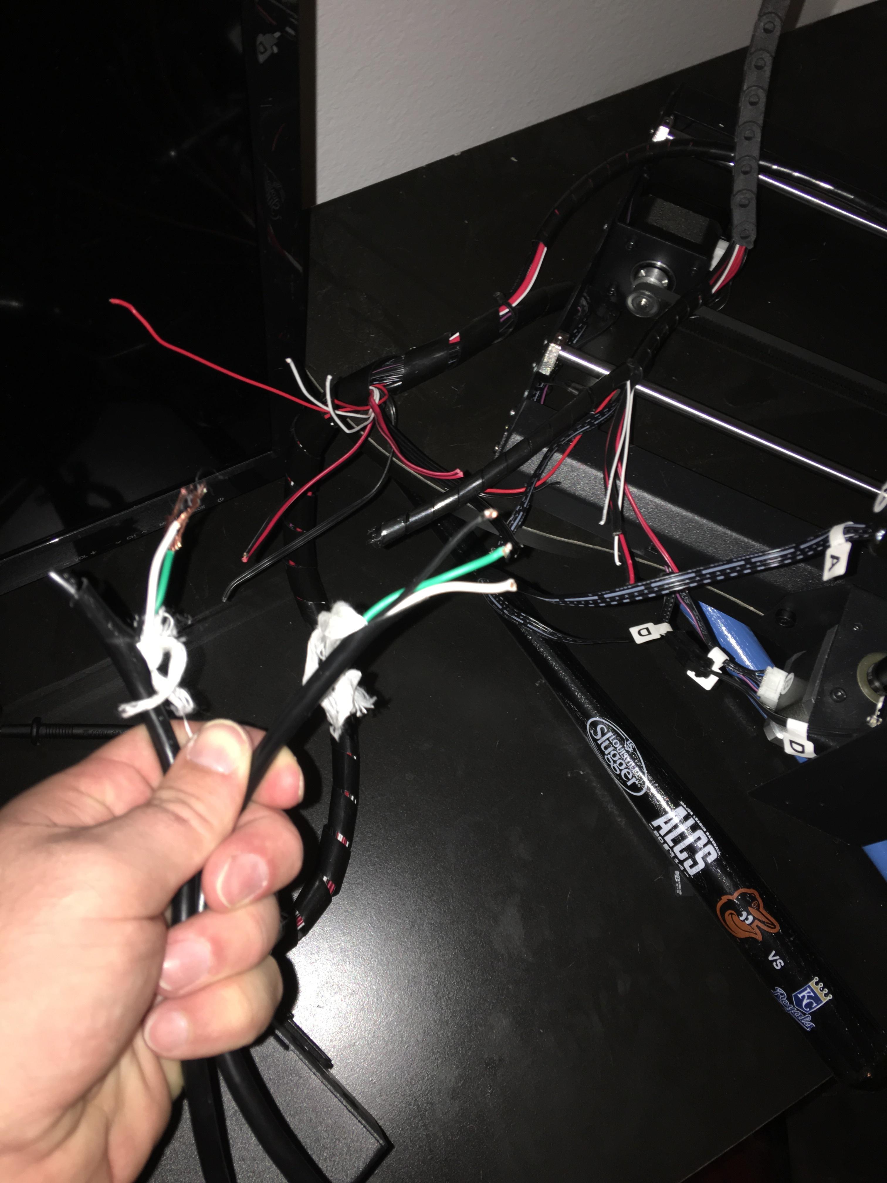 HELP! Dog chewed thru wiring! (i3) - 3D Printers - Talk ...
